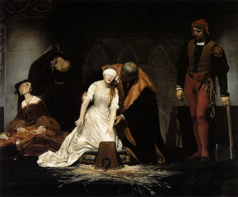 The Execution of Lady Jane Grey, Paul Delaroche, 1833