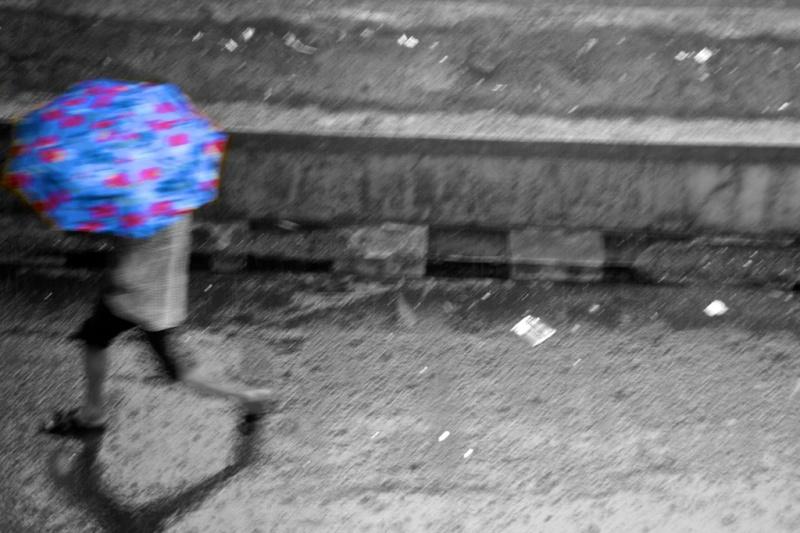 4527- Blue Umbrella