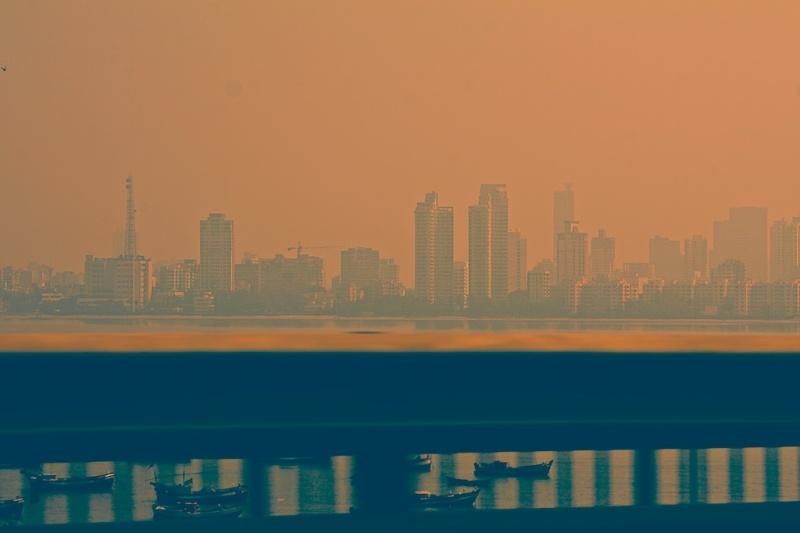 By sea, land or air. Mumbai Skyline, Worli