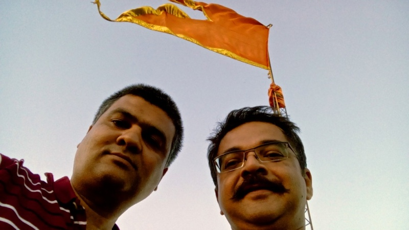 Samir Pathak (left) and me (right).