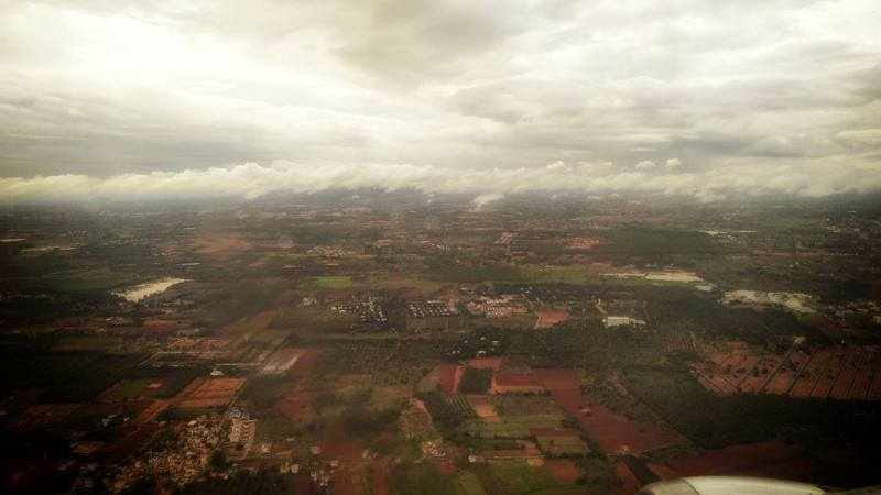 Taking off from Bengaluru Airport